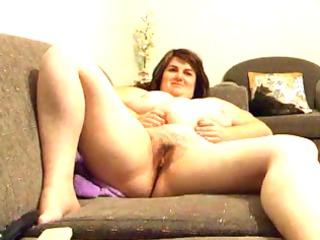 Joanne rubs vagina on daybed