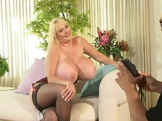 Blonde with massive hooters banged hard