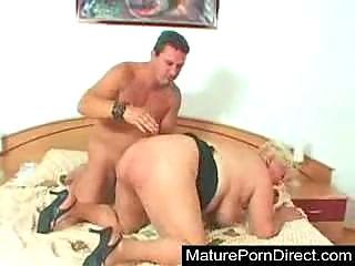 Hot Grandma In Action