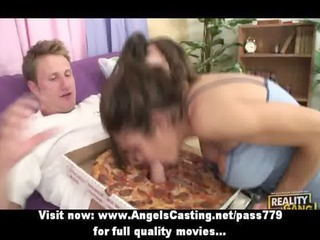 Lonely brunette milf does blowjob and is fucked