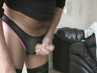 wank and cum in wifes panties