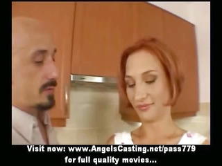 Amateur amazing redhead sexy wife talking with