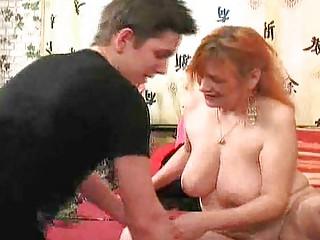 Mature woman seduces young stud 13