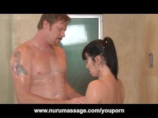 Nuru Massage Fuck with Big Tits MILF Rayveness