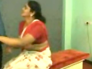 indian Mature aunty with young Lover