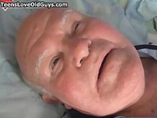 Teen girl sucking of a grandpa part2