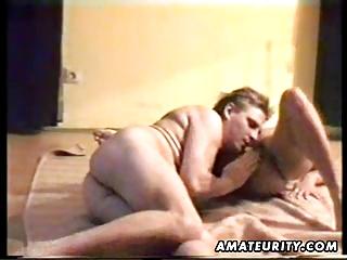 Mature amateur wife sucks and fucks with cumshot