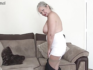 Mature British grandma shows she still got what