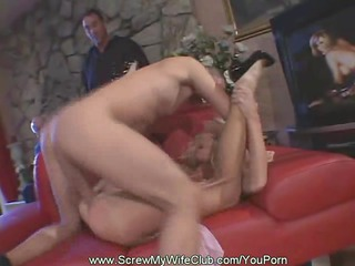 Swinger Wife Fucks While Hubby Watched