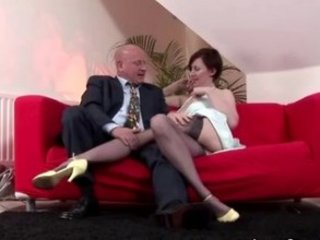Mature stocking oral pussy licking couple