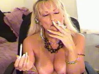 SMOKING FETISH MILF BLONDE