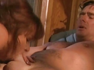 Horny wife sucking and fucking her husband