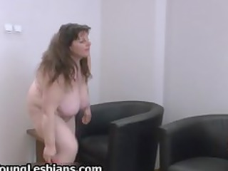 Horny mature lady with huge tits gets part5