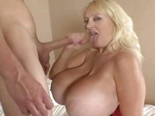 Hugetits mature whore sucking a fat penis
