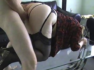 Milf Ho in Stockings Gets Bent Over and Fucked