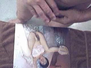 Lusty Ejaculation Over Mature Asian Picture