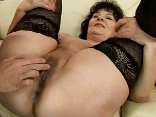 Horny granny getting fucked pretty hard