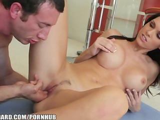 Yoga teacher helps a stressed out Euro MILF to