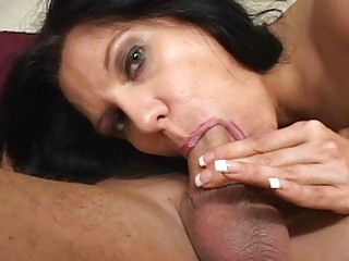 Milf slut gives every cock the best blowjob