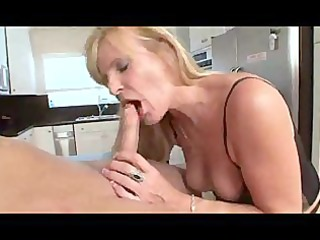 Nina - Hot Blonde Granny In Stocking