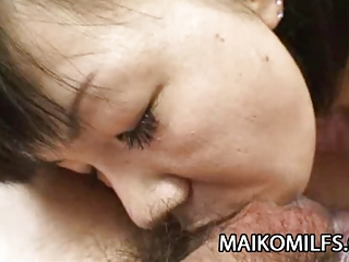 Mature Japanese Yoshie Tabata recieves a warm