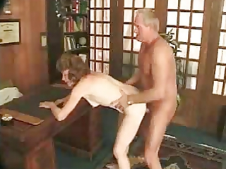 Dirty granny getting fucked hard by young stud