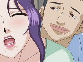 Horny busty anime milf gets licked her wetpussy
