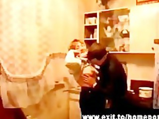 3 drunk Russian Moms fucked at party
