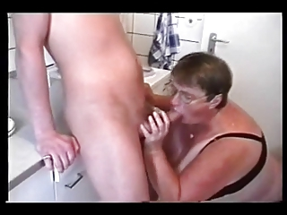 bbw mature with two young men