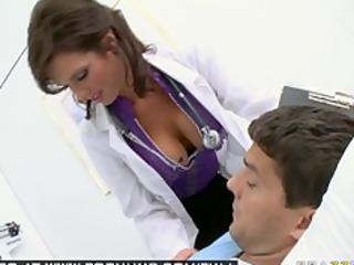 BIG TIT BRUNETTE MILF PORNSTAR DOCTOR FUCKS HER