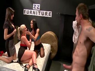 3 mother Id like to fuck pornstars fuck one knob