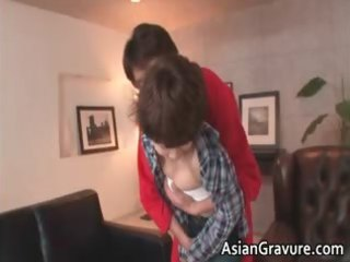 Slutty asian MILF gets facial after part3