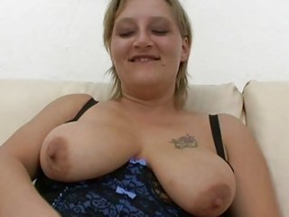 Chubby amateur Milf sucks and fucks with facial