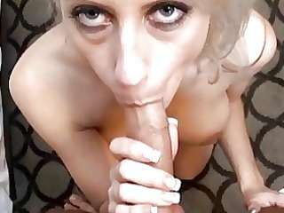 Busty blonde milf with amazing ass does deep