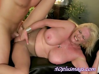Horny blonde housewife goes extreme