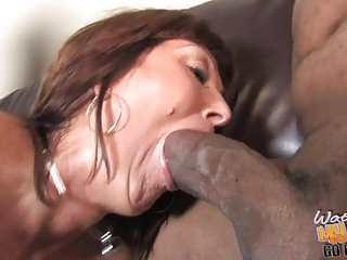Busty mature mom Desi Foxx used by 2 blacks in