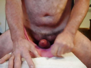 cumming in my wifes pink panties for a XHamster
