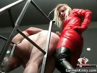 Two hot horny sexy body latex MILF babes part1