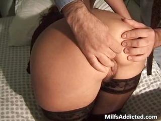 Horny redhead milf slut blows big cock part3