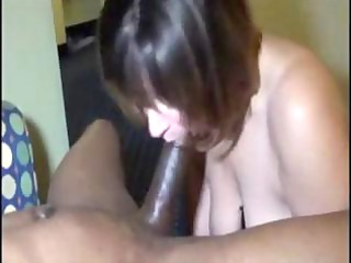 Beautiful MILF chick goes anal interracial with a