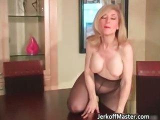 Slutty blond mum with big hooters part3
