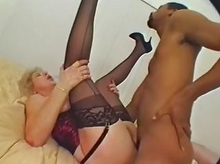 Dildoing MILF Has A Taste For Black Cock