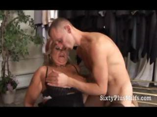 granny in hot lingerie fucked