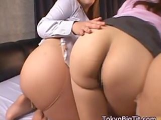 Beautiful Japanese milfs have huge part6