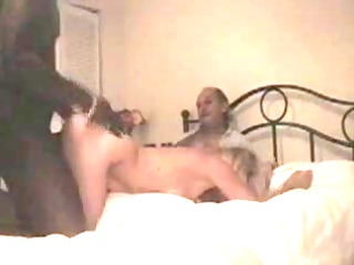 Hubby films blonde wife enjoying black