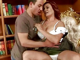 Lusty grandma fucking with a boy