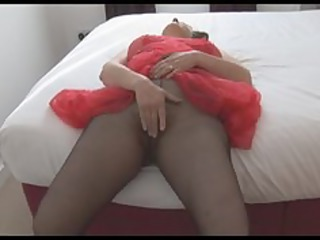 Busty hairy mature in sheer htdress strips rips
