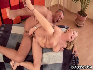Large breasts aged playgirl getting screwed hard