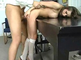 Office Slut and MILF Has Some Hardcore Doggy