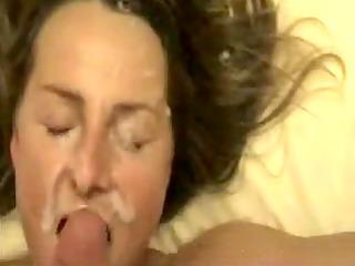 Wifey gets a massive cum splash porno